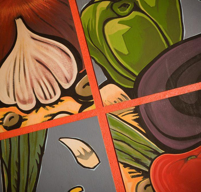 PizzaMondo gallery mural