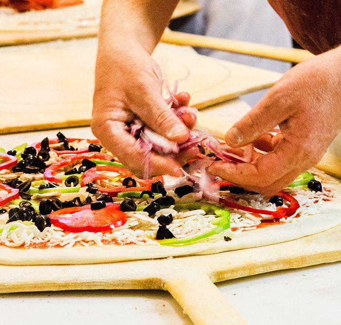 PizzaMondo gallery prep olives