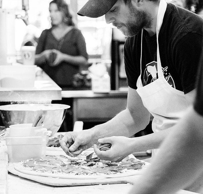 PizzaMondo gallery prep BW